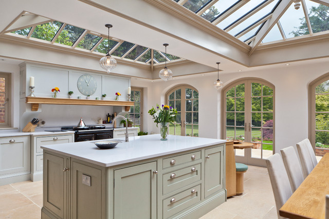 Luxurious Kitchen Diner Conservatory Traditional