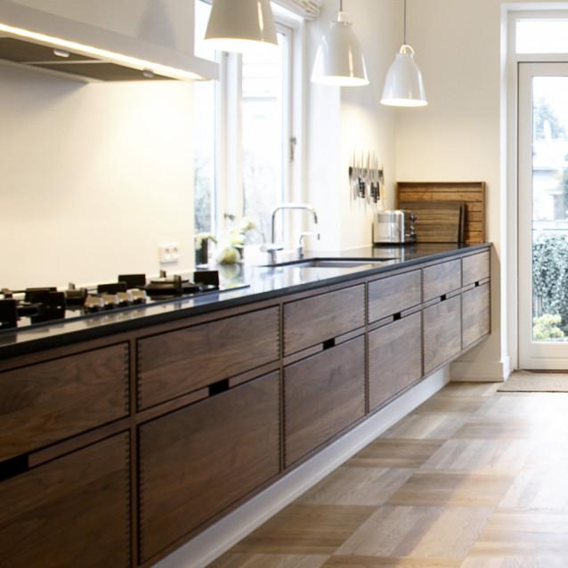 Luxurious wooden open space kitchens - Trendy - Køkken - København ...