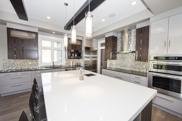 Luxury Acreage Estate In Alberta Contemporary Kitchen Edmonton By Bengel Custom Homes