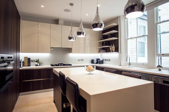 Luxury Apartment In Kensington Contemporary Kitchen