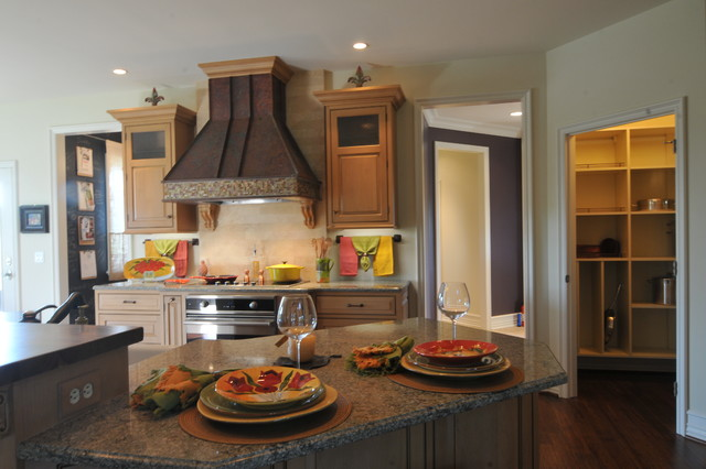 Luxury Cape Model Home traditional-kitchen