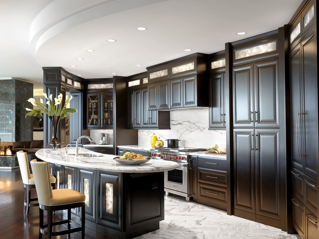 Luxury condominium contemporary kitchen st louis for Luxury modern kitchen