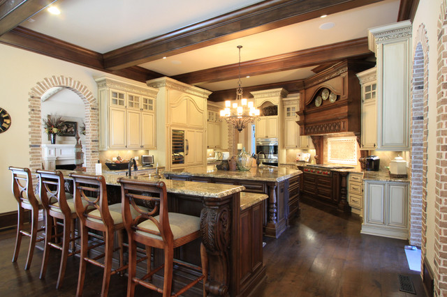 Luxury custom kitchen design traditional kitchen for Custom kitchen remodel