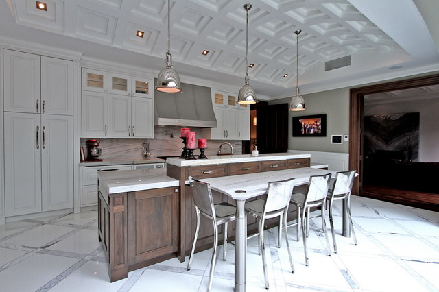 Luxury home staging modern mansion transitional for Modern mansion kitchen