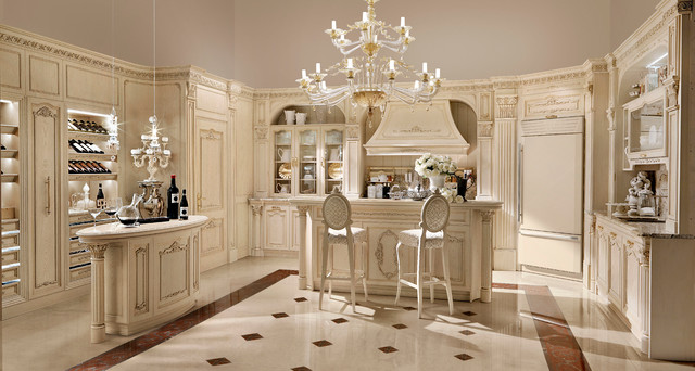 Luxury italian custom made kitchens by martini mobili for Interior design kitchen traditional