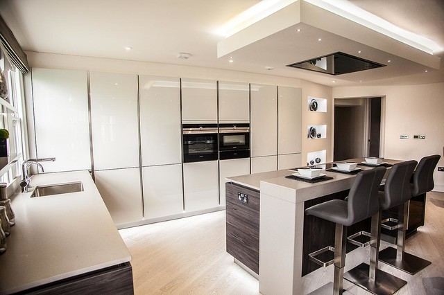 Luxury Kitchen In Bayswater Contemporary Kitchen London By Tiles Baths Direct