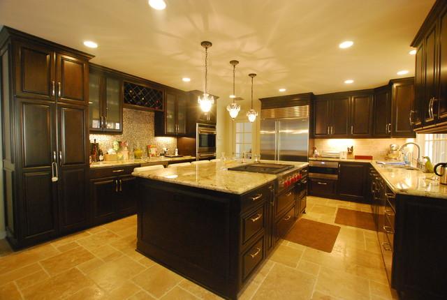 luxury kitchen redesign   Luxury Kitchen Remodel   Kitchen Island and Wine Bar ...