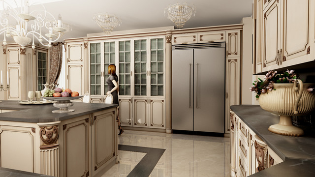 Luxury living by martini mobili traditional kitchen for Martinel mobili