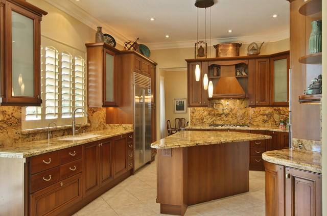 Luxury Living In San Diego Tuscan Kitchen Design