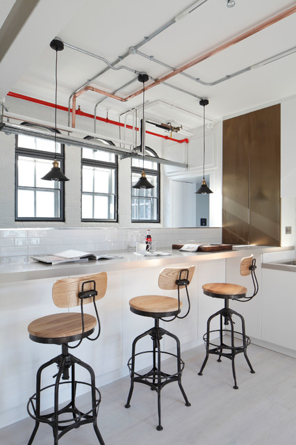 Luxury Loft Apartment Kitchen Industrial Kitchen