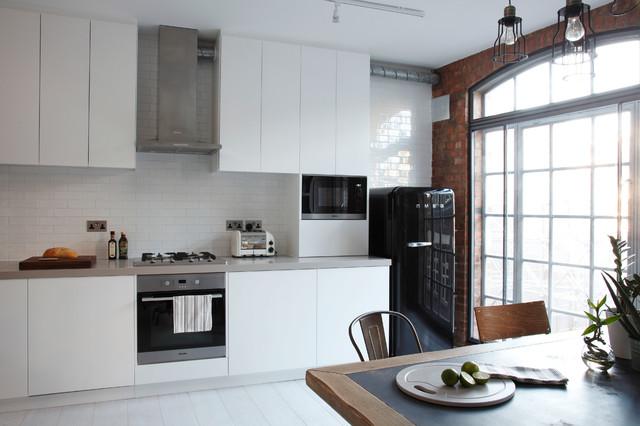luxury loft apartment kitchen - industrial - küche - london - von ... - Apartment Küche