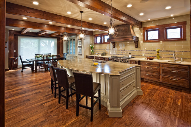 Luxury timber frame classique cuisine vancouver for Luxury timber frame home plans