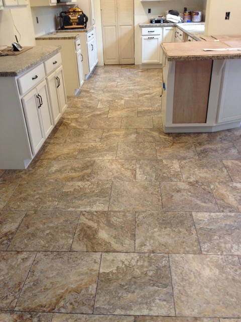 Luxury vinyl traditional kitchen sacramento by for Vinyl kitchen flooring