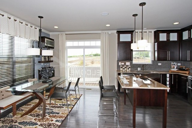 M/I Homes of Chicago: Sheffield Square Uptown - Clark Model transitional-kitchen