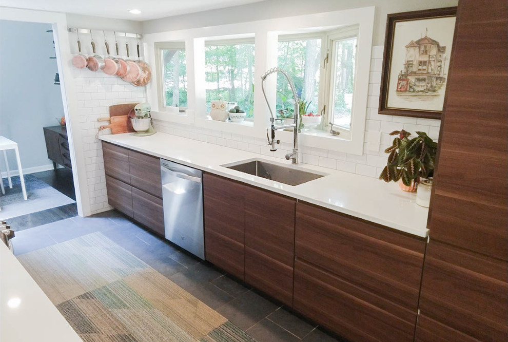 Made To Order Ikea Kitchen Midcentury Kitchen Other By Inspired Kitchen Design Houzz