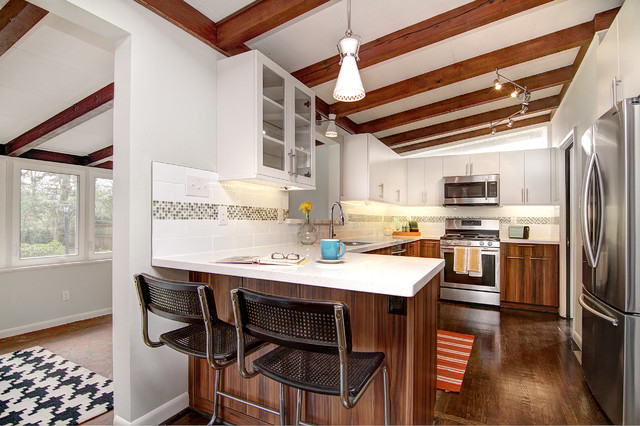 Madison Park 226 Cooper Dr Midcentury Kitchen Charlotte By Savvy Co Real Estate
