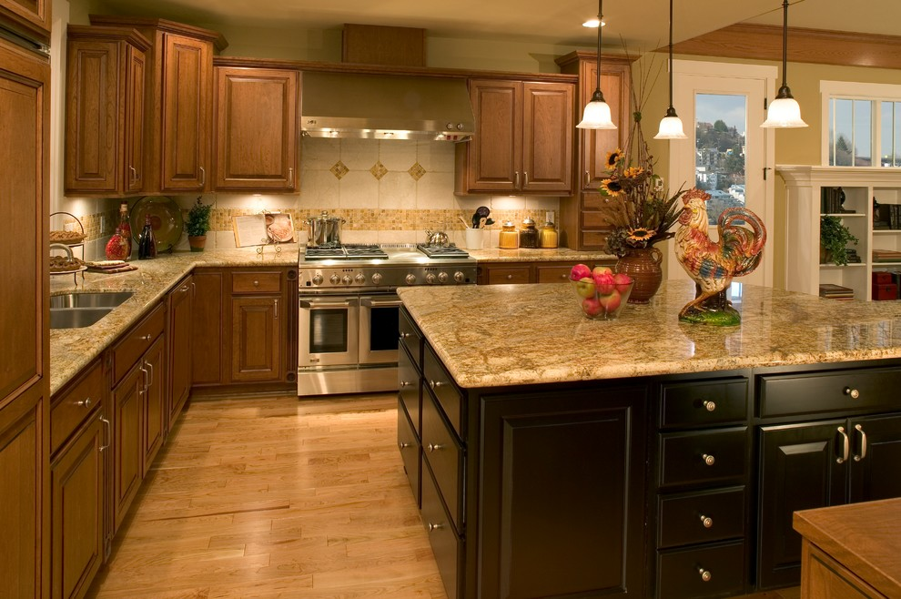 Madison Park Model Home - Traditional - Kitchen - Seattle ... on Model Kitchen  id=40194