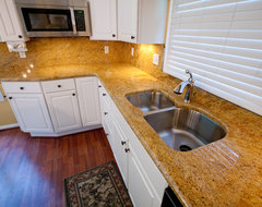 Madura Gold and White Cabinets traditional-kitchen