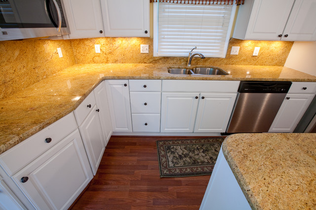 Madura Gold And White Cabinets Traditional Kitchen