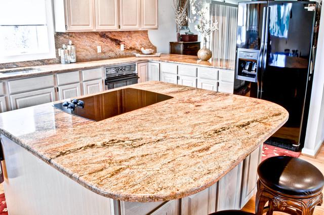 Madura Gold Granite Kitchen Traditional Kitchen Dc