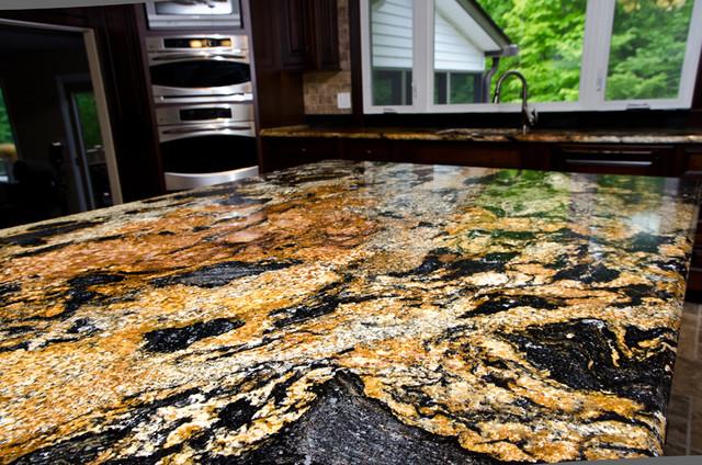 Magma Gold Granite - Traditional - Kitchen - dc metro - by Granite Grannies
