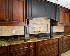 Magma Gold Granite traditional kitchen