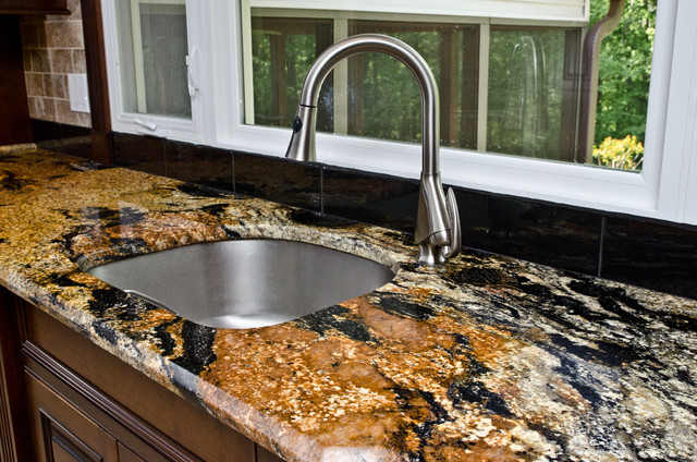 Magma Gold Granite Kitchen In Owings Md Traditional