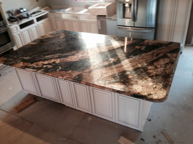 Magma Granite Countertop Contemporary Kitchen