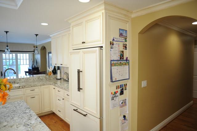 Magnetic wood refrigerator panels? - Traditional - Kitchen - san ...