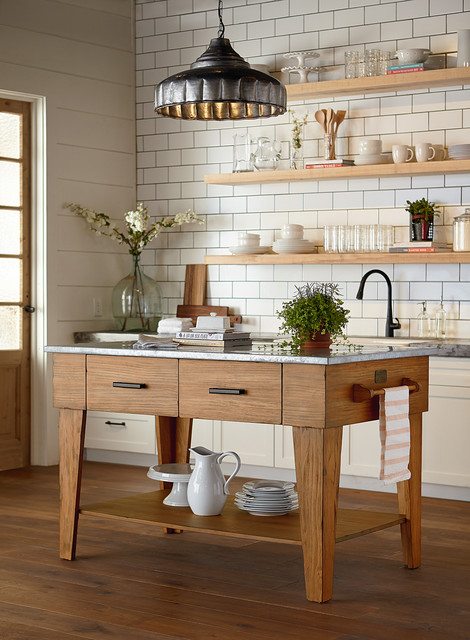 Magnolia Home Kitchen Island Bench Farmhouse
