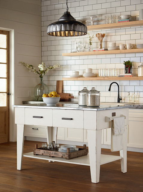 Magnolia home kitchen island jo 39 s white country for Kitchen island houston