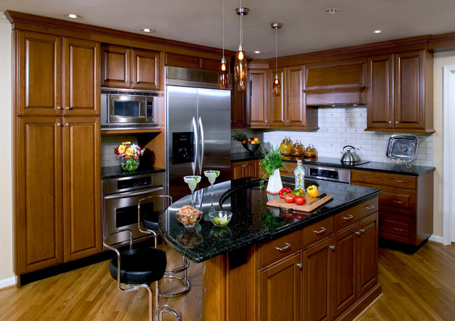 Mahogany kitchen traditional kitchen dc metro by for Mahogany kitchen designs