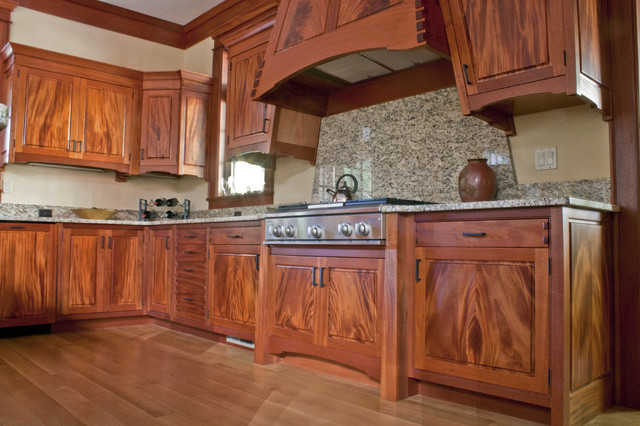 Mahogany kitchen eclectic kitchen by corlis design for Mahogany kitchen designs