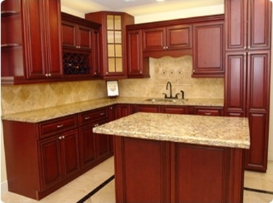 Mahogany Kitchen Display Traditional Kitchen Austin