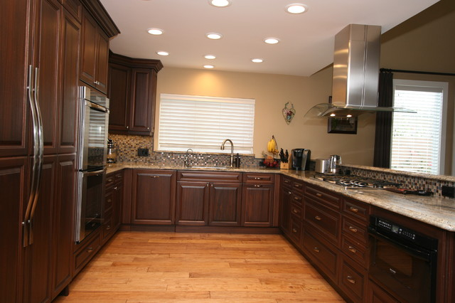 Mahogany Traditional Open Kitchen in Huntington Beach, CA traditional-kitchen