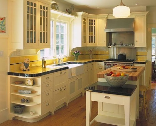More interesting cabinet ideas for vintage kitchen