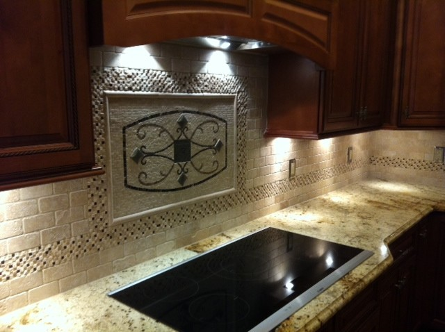 Maicon Backsplash Wall Medallions Traditional Kitchen Tampa