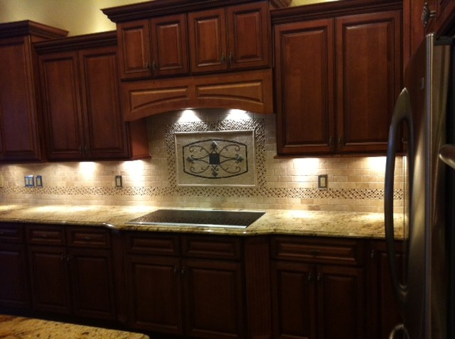 Maicon backsplash wall medallions traditional kitchen for Traditional kitchen wall tiles