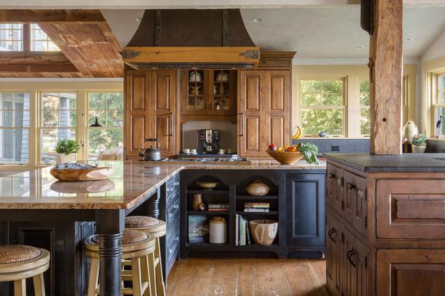 Maine Cottage   Weinrich Residence Farmhouse Kitchen