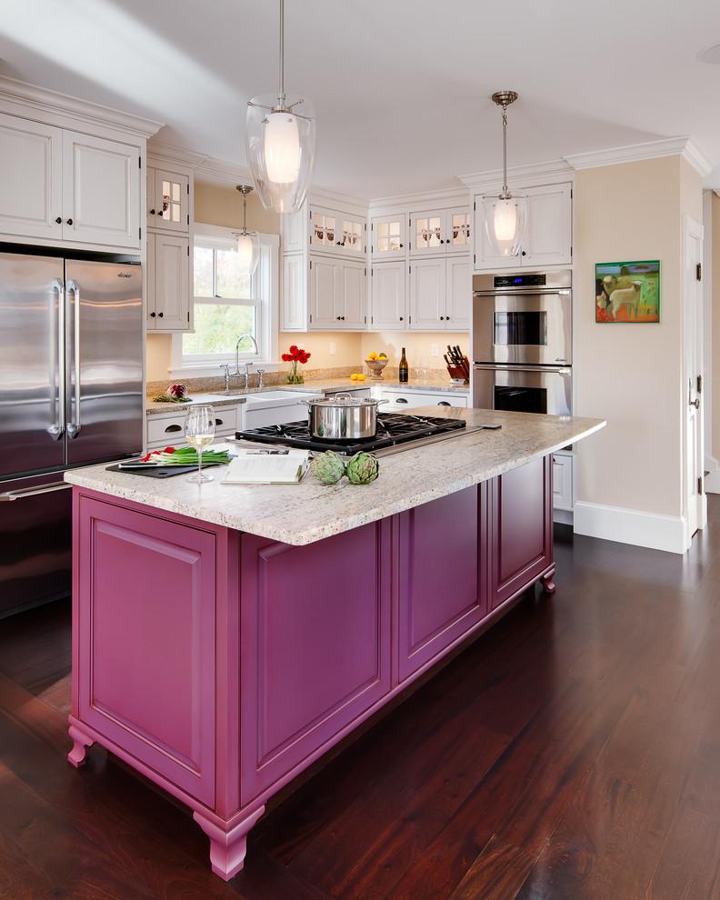 Maine Harborside Victorian - Traditional - Kitchen ...
