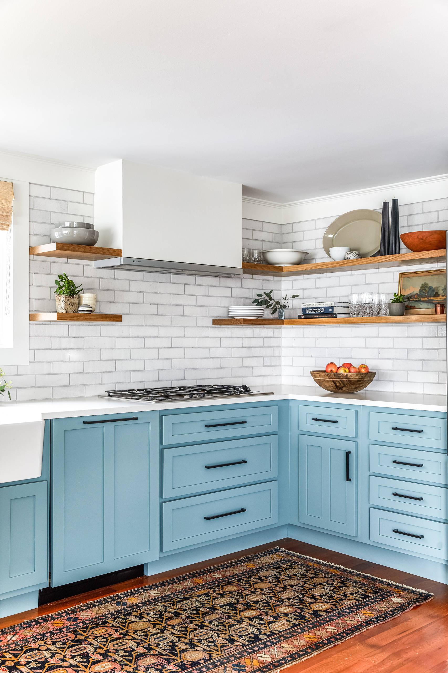 75 Beautiful Farmhouse Kitchen With Brick Backsplash Pictures Ideas May 2021 Houzz