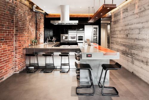 Modern Interior Design for Mainstream Industrial Kitchen in Bachelorpad