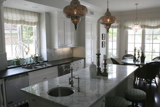 Malibu Beach  House beach-style-kitchen