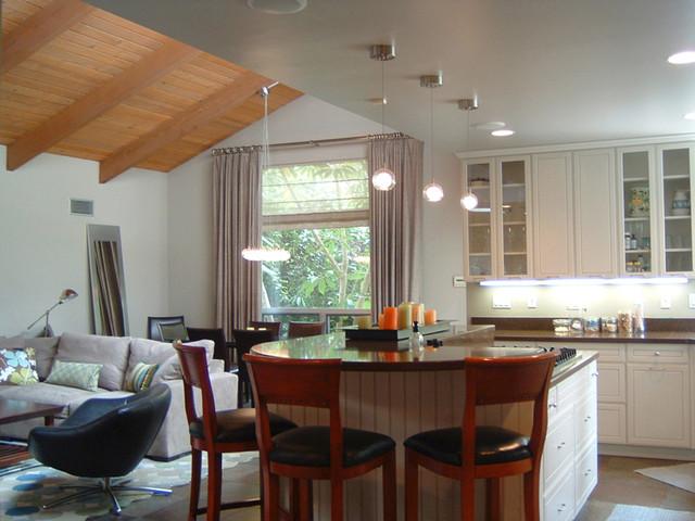 Malibu Great Room contemporary-kitchen