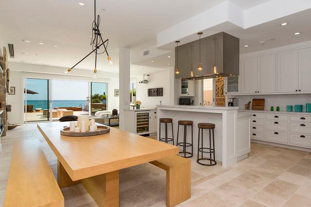 Malibu Road Beach Home beach-style-kitchen