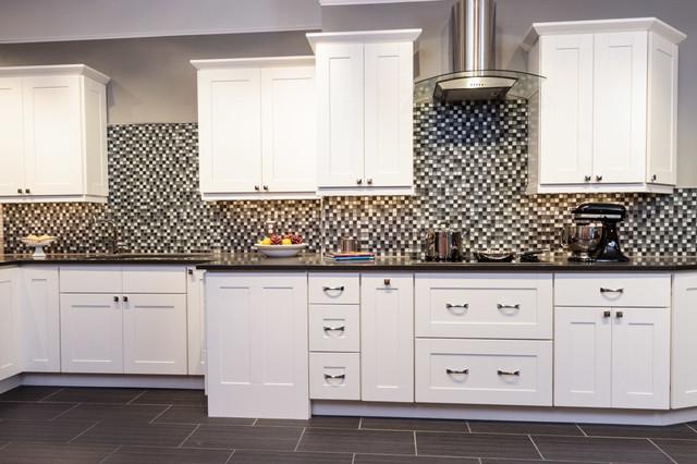 Malibu White Shaker Kitchen Cabinets - Contemporary - Kitchen ...