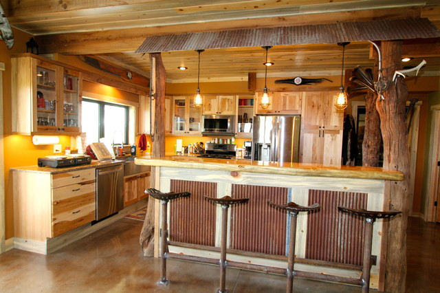 Man Cave Kitchen Rustic Kitchen Omaha By Merritt S Quality Cabinets Houzz Uk