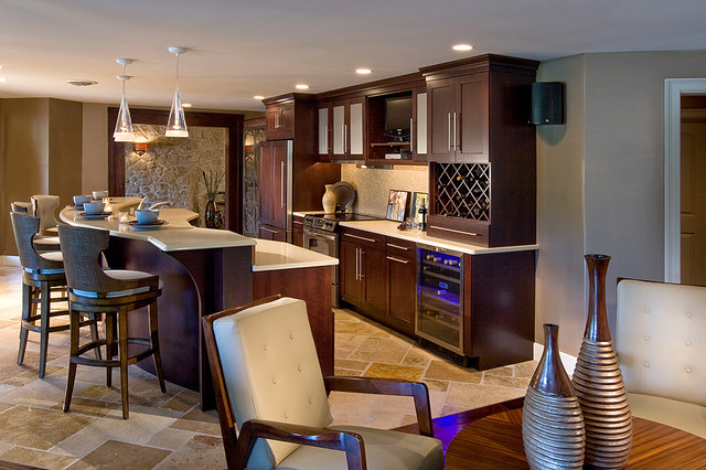 Man Cave Traditional Kitchen Philadelphia By Kitchens By Eileen