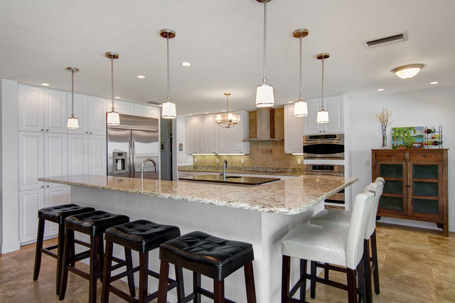 Manatee River Residence traditional-kitchen