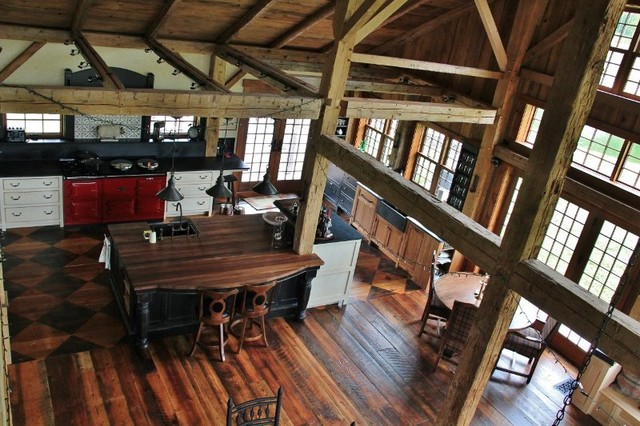 Manchester Vt Barn Style Home Traditional Kitchen